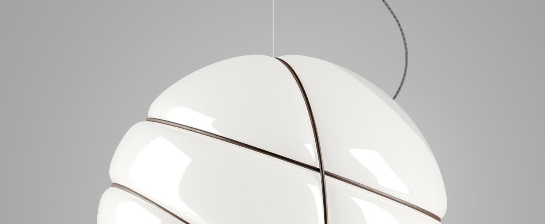 Suspension armilla bruni blanc bruni o36cm h36cm fabbian normal