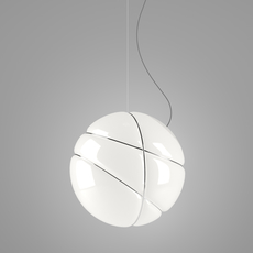 Armilla chrome lorenzo truant suspension pendant light  fabbian f50 a03 01  design signed nedgis 63561 thumb