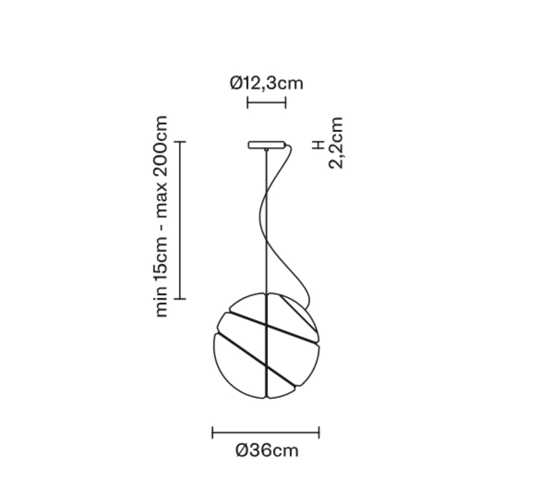 Armilla dore lorenzo truant suspension pendant light  fabbian f50 a05 01  design signed nedgis 63565 product