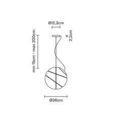 Armilla dore lorenzo truant suspension pendant light  fabbian f50 a05 01  design signed nedgis 63565 thumb