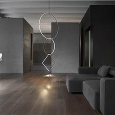 Arrangements round l round m square l  michael anastassiades suspension pendant light  flos f0408030 f0407030 f0409030 f0415030  design signed nedgis 100022 thumb