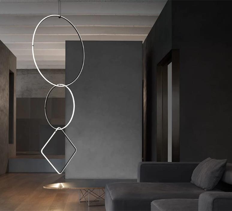 Arrangements round l round m square l  michael anastassiades suspension pendant light  flos f0408030 f0407030 f0409030 f0415030  design signed nedgis 100024 product