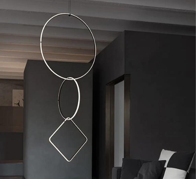Arrangements round l round m square l  michael anastassiades suspension pendant light  flos f0408030 f0407030 f0409030 f0415030  design signed nedgis 100025 product