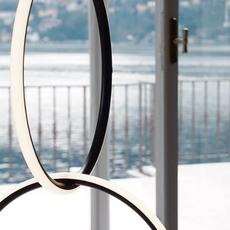 Arrangements round l round m square l  michael anastassiades suspension pendant light  flos f0408030 f0407030 f0409030 f0415030  design signed nedgis 100027 thumb