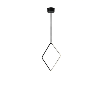 Suspension arrangements square l noir led 2700k 1728lm o68 8cm h68 8cm flos normal