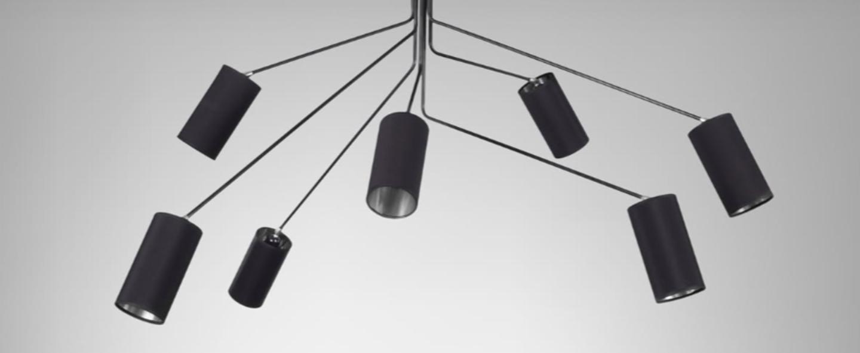 Suspension array cotton noir et nickel l170cm h85cm cto lighting normal