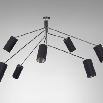 Suspension array cotton noir et nickel l170cm h85cm cto lighting normal