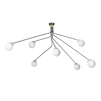 Suspension array opal noir et nickel l160cm h85cm cto lighting normal