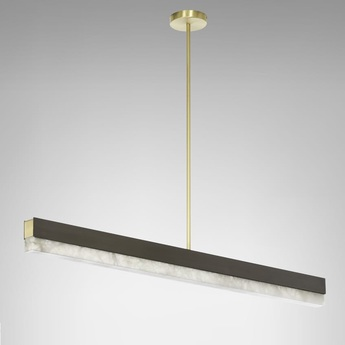 Suspension artes 1200 bronze led 2700k l119cm h10cm cto lighting normal