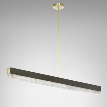 Suspension artes 1200 bronze led 2700k l119cm h10cm cto lighting normal