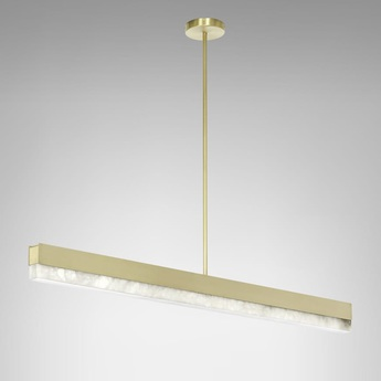 Suspension artes 1200 laiton led 2700k l119cm h10cm cto lighting normal
