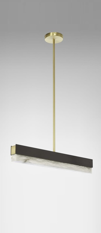 Suspension artes 600 bronze led 2700k l61cm h10cm cto lighting normal