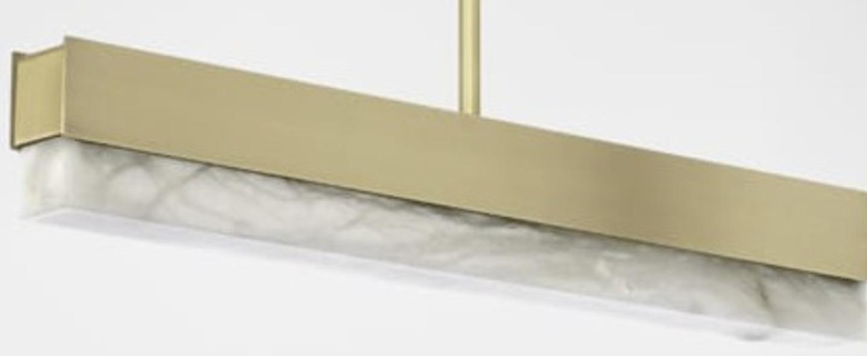 Suspension artes 600 laiton led 2700k l61cm h10cm cto lighting normal