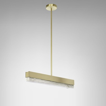 Suspension artes 600 laiton led 2700k l61cm h10cm cto lighting normal