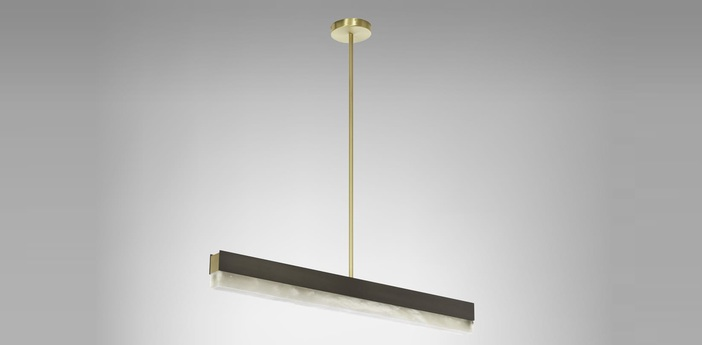 Suspension artes 900 bronze led 2700k l90cm h10cm cto lighting normal