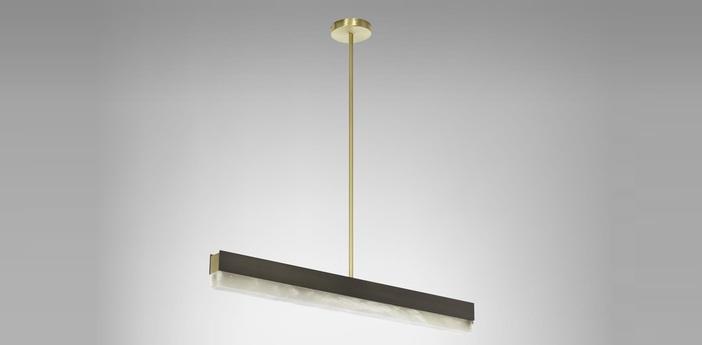 Suspension artes 900 bronze led 2700k l90cm h10cm cto lighting normal