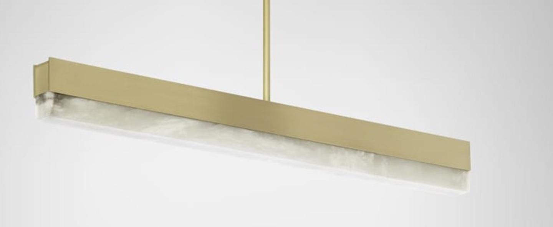 Suspension artes 900 laiton led 2700k l90cm h10cm cto lighting normal