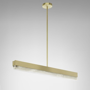 Suspension artes 900 laiton led 2700k l90cm h10cm cto lighting normal