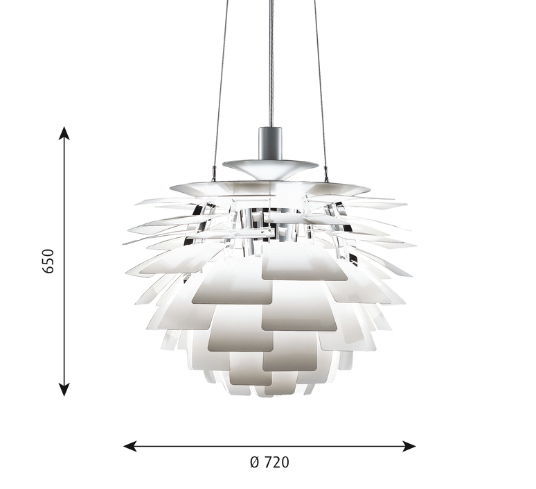 Artichoke l poul henningsen suspension pendant light  louis poulsen 5741092424  design signed 49073 product