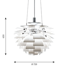 Artichoke l poul henningsen suspension pendant light  louis poulsen 5741092424  design signed 49073 thumb