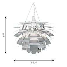 Artichoke l poul henningsen suspension pendant light  louis poulsen 5741097908  design signed 49082 thumb