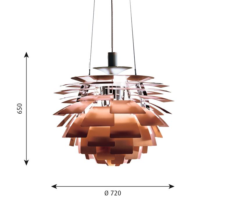 Artichoke l poul henningsen suspension pendant light  louis poulsen 5741092437  design signed 49079 product