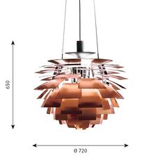 Artichoke l poul henningsen suspension pendant light  louis poulsen 5741092437  design signed 49079 thumb