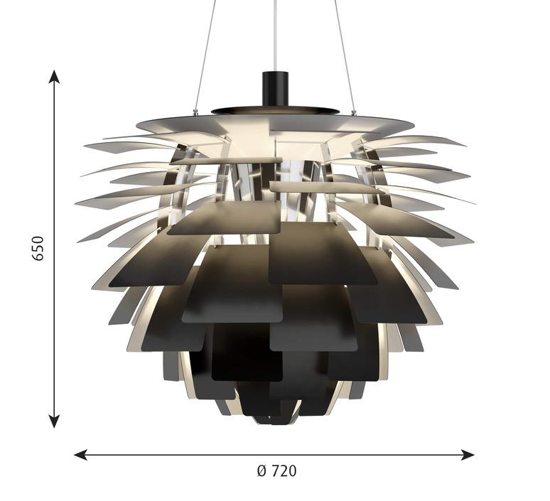 Artichoke l poul henningsen suspension pendant light  louis poulsen 5741112469  design signed nedgis 82207 product