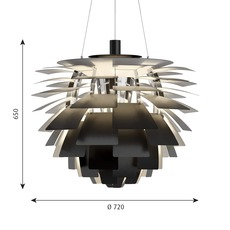 Artichoke l poul henningsen suspension pendant light  louis poulsen 5741112469  design signed nedgis 82207 thumb