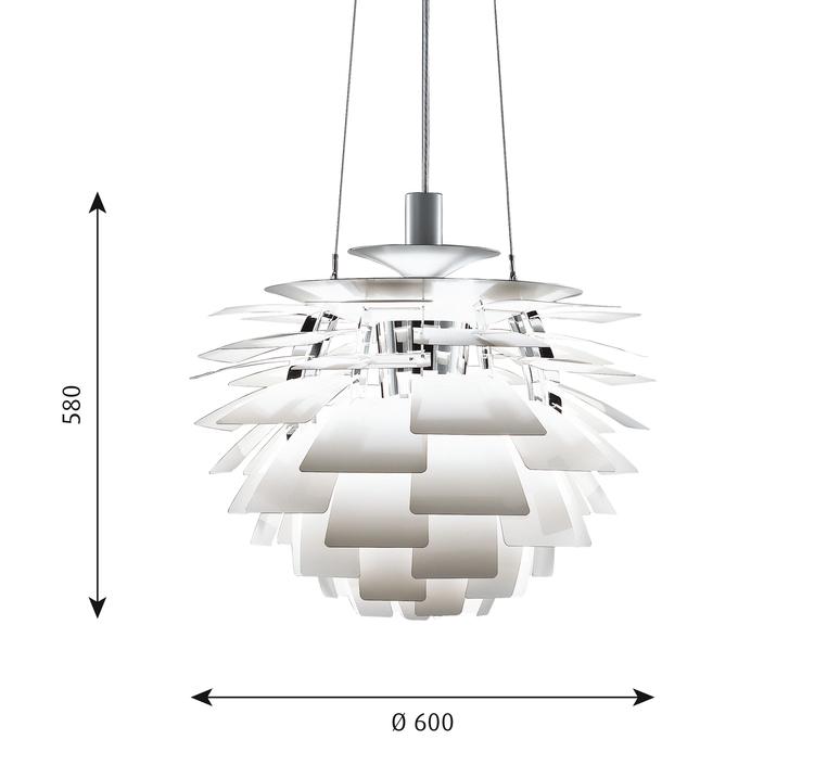 Artichoke m poul henningsen suspension pendant light  louis poulsen 5741092398  design signed 49062 product