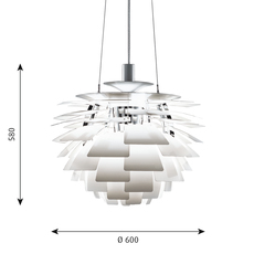 Artichoke m poul henningsen suspension pendant light  louis poulsen 5741092398  design signed 49062 thumb