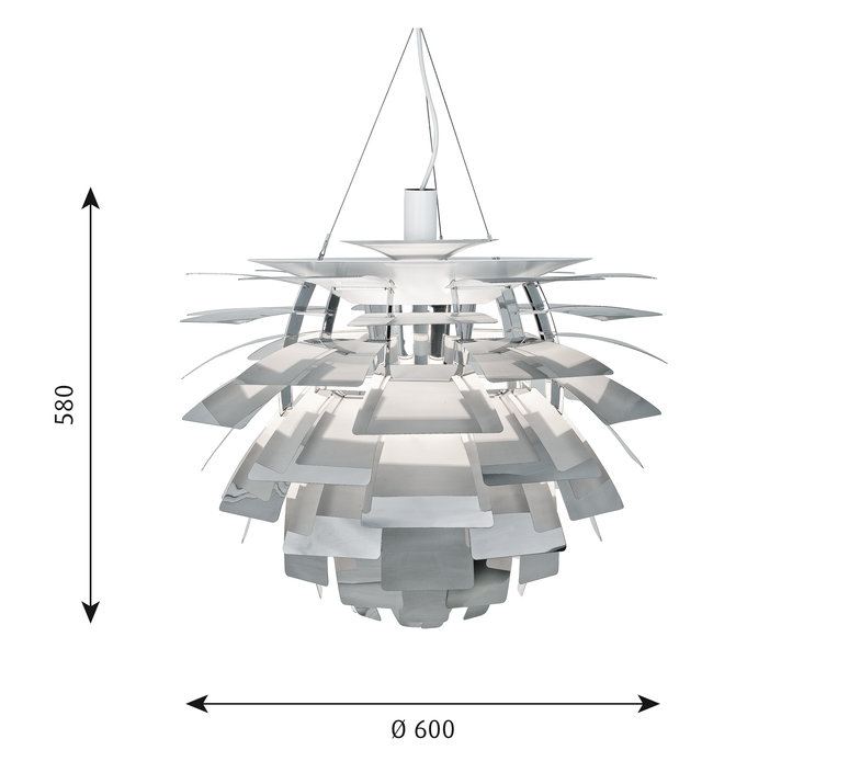 Artichoke m poul henningsen suspension pendant light  louis poulsen 5741097801  design signed 49068 product