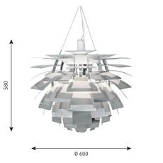 Artichoke m poul henningsen suspension pendant light  louis poulsen 5741097801  design signed 49068 thumb
