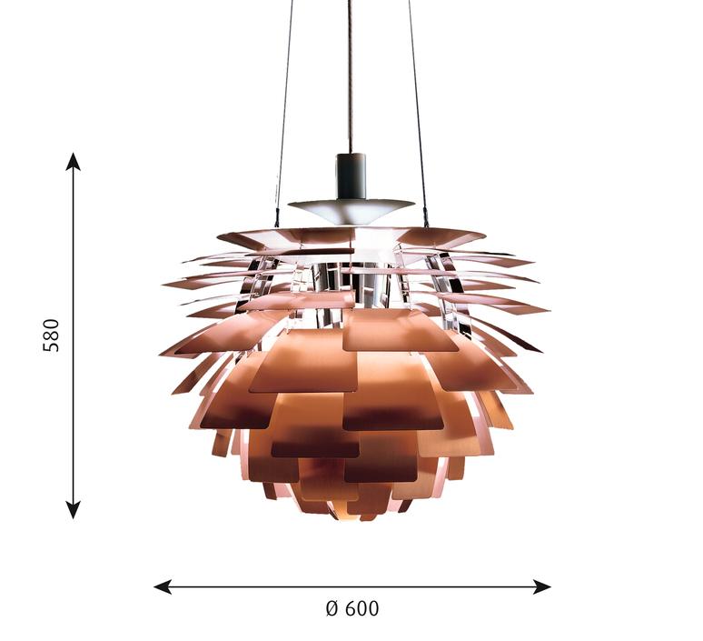 Artichoke m poul henningsen suspension pendant light  louis poulsen 5741092408  design signed 49065 product