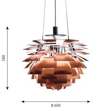 Artichoke m poul henningsen suspension pendant light  louis poulsen 5741092408  design signed 49065 thumb