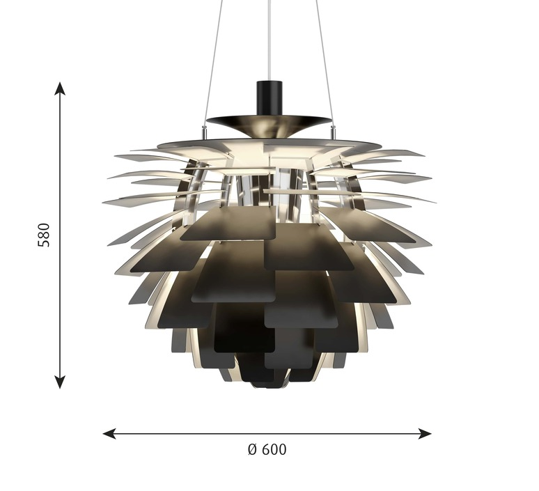 Artichoke m poul henningsen suspension pendant light  louis poulsen 5741112375  design signed nedgis 82198 product