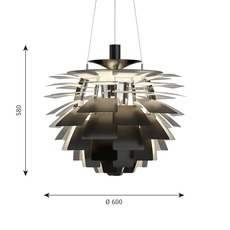 Artichoke m poul henningsen suspension pendant light  louis poulsen 5741112375  design signed nedgis 82198 thumb