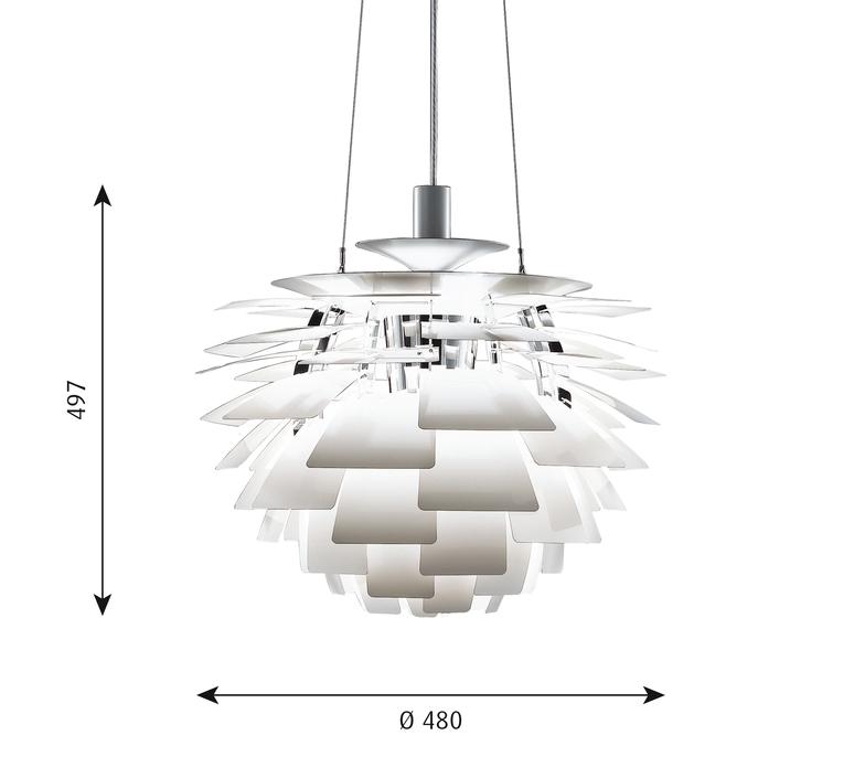 Artichoke s poul henningsen suspension pendant light  louis poulsen 5741092149  design signed 49050 product