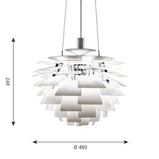 Artichoke s poul henningsen suspension pendant light  louis poulsen 5741092149  design signed 49050 thumb