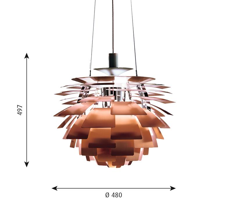 Artichoke s poul henningsen suspension pendant light  louis poulsen 5741092123  design signed 49054 product