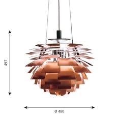 Artichoke s poul henningsen suspension pendant light  louis poulsen 5741092123  design signed 49054 thumb