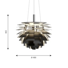 Artichoke s poul henningsen suspension pendant light  louis poulsen 5741112252  design signed nedgis 82220 thumb