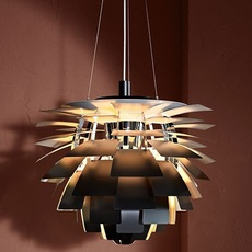 Artichoke s poul henningsen suspension pendant light  louis poulsen 5741112252  design signed nedgis 82222 thumb