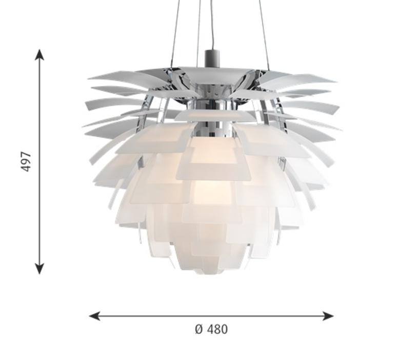 Artichoke verre poul henningsen suspension pendant light  louis poulsen 5741092602  design signed nedgis 106635 product