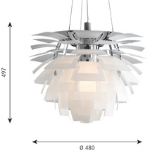 Artichoke verre poul henningsen suspension pendant light  louis poulsen 5741092602  design signed nedgis 106635 thumb