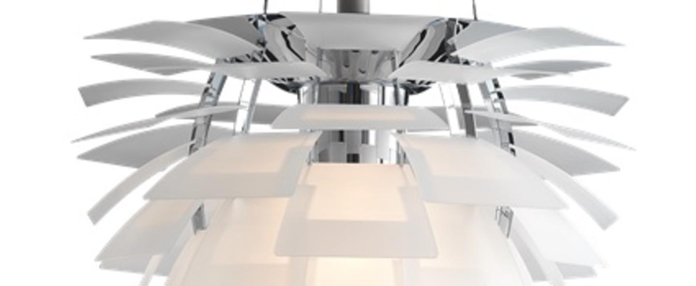 Suspension artichoke verre verre transparent chrome o60cm h58cm louis poulsen normal