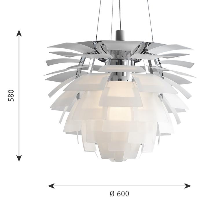 Artichoke verre poul henningsen suspension pendant light  louis poulsen 5741092709  design signed nedgis 106637 product