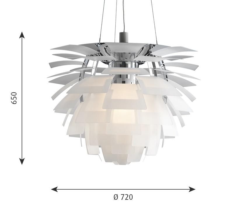 Artichoke verre poul henningsen suspension pendant light  louis poulsen 5741092712  design signed nedgis 106641 product