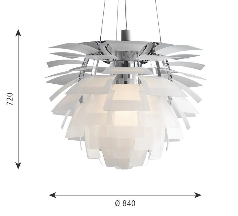 Artichoke verre poul henningsen suspension pendant light  louis poulsen 5741092725  design signed nedgis 106645 product