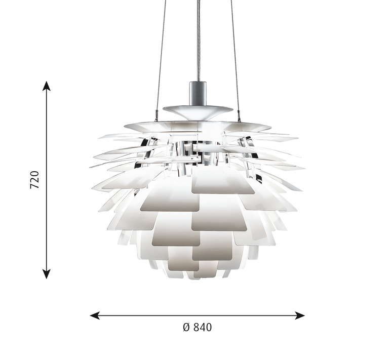 Artichoke xl poul henningsen suspension pendant light  louis poulsen 5741092453  design signed 49086 product
